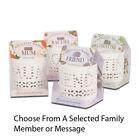 CANDLELIT NAMES TEALIGHT HOLDERS *CHOOSE A SELECTED MEESAGE OR FAMILY MEMBER*