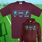 EAT, SLEEP, WEST HAM FOOTBALL T SHIRT / HOODIE - KIDS ADULTS  TOP