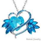 50% OFF New Large Heart Crystal Rhinestone Pendant Necklace Chain Jewelry Gift