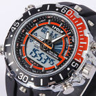 Men Fashion Silicone Quartz LCD Sport Watch M New Light Alarm Date Military Gift
