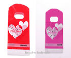 50pcs Sweet  Heart Style Plastic Bags Party Supply Or Jewelry Display 152*90mm