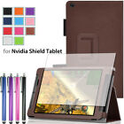 Folio Leather Stand Case Slim Smart Cover For NVIDIA Shield 2 8 Inch Tablet+Film