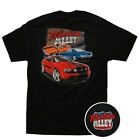 2010 Ford 'Mustang Alley' Men's Cotton T-Shirt Black