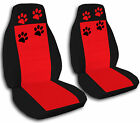 2 Paw Print Seat Covers 1994 to 2004 Ford Mustang  (11 Color Combination)
