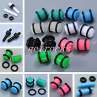 """14G-1/2"""" Acrylic Flare O-Rings Ear Plugs Flesh Tunnel Expander Stretcher Gauges"""