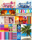 Cotton Large Summer Beach Sauna Holiday Towel Velour Beach Bath Towels 75x150cms