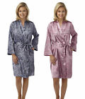 Womens Snake Print Robe Ladies Dressing Gown Wrap Navy Mink New Size UK 10 -20