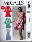 McCall's 6890 Ladies Easy Wrap Summer Surplice Pullover Dress Sewing Pattern NEW