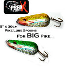 "5""x30gm BIG SPOON (PSS) LURES for BIG PIKE Fishing, Xander and Predator Fishing"