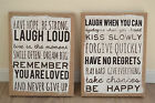 Lovely shabby chic hessian plaque sign hanging decoration ideal Christmas gift