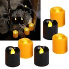 "6 tlg Set LED Kerzen ""Halloween"" 45x38mm / flammenlose flackernde Kerze Candle"