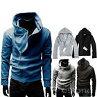 British Style Mens Boys Casual Hoodie Fashion Stand Hooded Jackets Coat Outwear