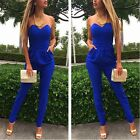 Sexy Women's Bodycon Bandage Strapless Tight Waist Jumpsuits Exposed dress A694