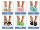 Snoozies Women's Animal Head Slippers: Puppy, Pig, Cat, Owl, Frog, Monkey