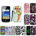 FOR SAMSUNG GALAXY GIO S5660 PRINTED HARD SHELL BACK SKIN FITS CASE COVER+STYLUS
