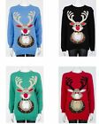 Unisex Christmas Xmas Jingle Bell Rudolph Reindeer Novelty Jumper Sweater