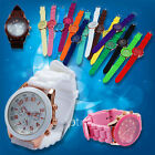 Quartz Wrist Jelly Analog Sports Gel Unisex Women Crystal 15 Colors Geneva Watch