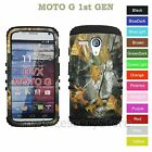 For Motorola MOTO G Camo Camouflage Hybrid Rugged Impact Armor Phone Case Cover