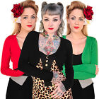 Banned Womens New Plain Fine Knitted Rockabilly Cardigan Knitwear Bolero Shrug