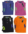 Polo Ralph Lauren Mens Custom Fit Big Pony Logo Neon Knit Short Sleeve Shirt New