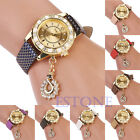 Luxury Fashion Cute Butterfly Pattern Rhinestone Women Lady Round Wrist Watch