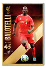 Liverpool FC Star Player Mario Balotelli Magnetic Notice Board Includes Magnets
