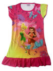 Disney Tinkerbell Rosetta Children Kids Girls Dress Pajama Skirt 3-10Yr Hot Pink