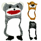 Kids Animal Peru Hat Childrens Warm Winter Novelty Beanie Ski Hat Ears & Tassles