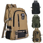 Men's Military Vintage Canvas Rucksack Backpack Hiking Camping Travel Bag USA