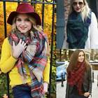 Lady Womens Large Tartan Scarf Wrap Shawl Neck Stole Warm Plaid Checked Pashmina