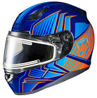 HJC CL-17 Snowmobile Helmet w/Electric Shield Redline Graphics MC-26 Blue/Orange