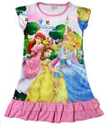 Disney Cinderella Aurora Snow White Children Girls Pajama Night Gown 3-10Yr Pink