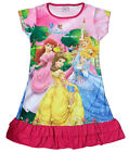Disney Cinderella Aurora Snow White Children Girls Pajama Night Gown 3-10 H Pink