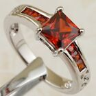 Size 6 7 8 9 Nice Elegant Garnet Red Jewelry Gold Filled Woman Gift Ring K2240
