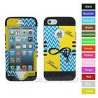 For iPhone 5 5s Anchor Infinity Sign Hard&Rubber Hybrid Rugged Impact Case Cover