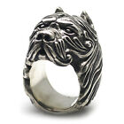 [Moon Silver] Pitbull 2 Silver 925 Ring, Dog, Handmade Silver, Pit Bull Terrier
