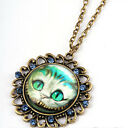 occident newness alice in wonderland loveliness charm cat jewelry necklace