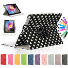 Polka Dots Leather 360 Rotating Case Cover With Sleep Wake For iPad 4 & 3 & 2