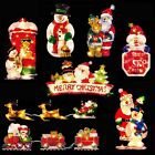 Light Up INDOOR Christmas Window Silhouette Decoration - 7 Designs