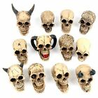 Skull Ornament Gothic Mini Head Design Height 4cm Goth Bone Skeleton