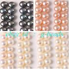 Button Shape Genuine Pearl Beads Half Drilling 14 Pairs for Earrings 6-6.5mm