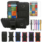 Armor Rugged Hybrid Grip Hard Stand Case+LCD+Stylus For Motorola Moto X 2nd Gen.