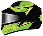 HJC CS-R2 Seca Snowmobile Helmet with Electric Shield Green Graphics