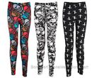 BONAMART Women Funky Skeleton Print Designed Spandex Leggings Tattoo A