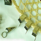 20/100PC METAL CURTAIN POLE ROD VOILE NET RINGS WITH CLIPS HANGING