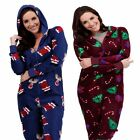 CHRISTMAS ONESIE LADIES ALL IN ONE JUMPSUIT COSY WOMENS WINTER PJS PYJAMA ONESIE