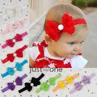 Chic Baby Girls Infants Toddlers Rose Flower Bowknot Hairband Elastic Headband