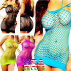 Sleepwear Fishnet Bodystocking Bodysuit Women Lingerie Babydoll Mini Sleepshirt