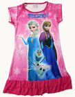 Disney Frozen Elsa Anna Olaf Children Girls Dress Pajama Nightgown 3-10 Hot Pink