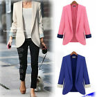 HOT SALE Lady Occident Style Lapel Long-Sleeved Suit Jacket Shoulder Pads US WB